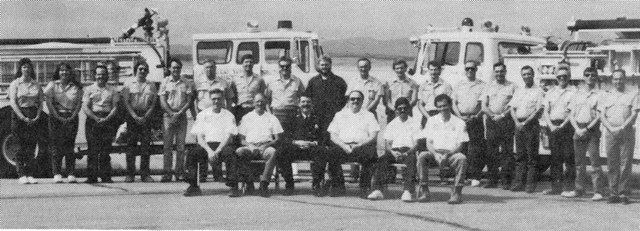 The 1989 Fire Department poses for a group photo